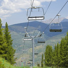 Picture - Resort Chair Lift in Vail.