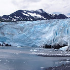 Picture - View of Shoup Glacier in Valdez seen from the water.