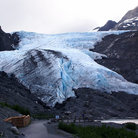 Picture - Viewing area at Worthington Glacier outside of Valdez.