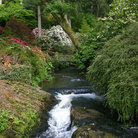 Picture - A waterfall at Bodnant Gardens.
