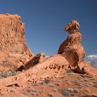 Picture - Balanced rock at Valley of Fire State Park.