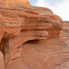 Picture - Stone wall at Valley of Fire State Park.