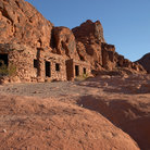 Picture - Stone cabins at Valley of Fire State Park.