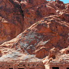 Picture - Cabins built into the rock at Valley of Fire State Park.