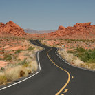 Picture - The road to Valley of Fire State Park.