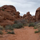 Picture - Walking trail through Valley of Fire State Park.