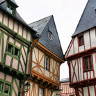 Picture - Tudor style buildings in the town of Vannes.