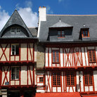 Picture - Typical architecture in Vannes, Brittany.