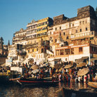 Picture - The Ganges River at Varanasi.