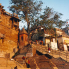 Picture - Ghat steps at Varanasi.