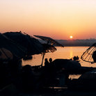 Picture - Sunrise over the Ganges River at Varanasi.