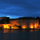 Picture - The Vaxholm Castle at night.