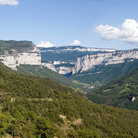 Picture - Rolling hills and cliffs of the Vercors Region.