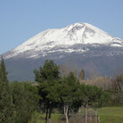 Picture - The snow covered Mt Vesuvius.