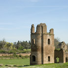 Picture - Ruins of the circus of Maxentius or of Romulus, Via Appia Antica in Rome.