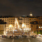Picture - Piazza di Spagna and Via Condotti and night in Rome.