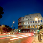 Picture - Via dei Fori Imperiali at night in Rome.