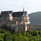 Picture - View of the Vianden Castle and surrounding country.