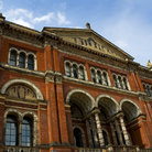 Picture - Front exterior of the Victoria and Albert Museum in London.