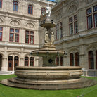 Picture - Fountain at the Vienna State Opera.