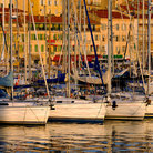 Picture - Boats in the late afternoon at the Vieux Port of Cannes.