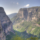 Picture - Looking down the Vikos Gorge in Zagoria.