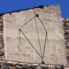 Picture - Old sundial at Villefranche de Conflent.
