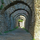 Picture - Stone arches at the castle in Villefranche.