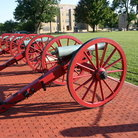 Picture - Cannons on the grounds of the Virginia Military Institute in Lexington.