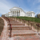 Picture - Stairs leading to the State Capitol in Richmond, Virginia.