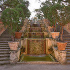 Picture - Stair way at Vizcaya Museum and Gardens.