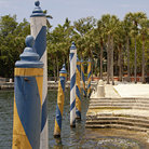 Picture - Dock at Vizcaya mansion, Miami.