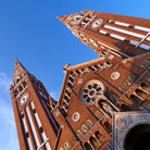 Picture - Facade of the cathedral in Szeged.