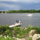 Picture - Fishing dock on Mississippi River in Wabasha, Minnesota.