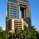 Picture - Modern architecture of the Waikiki Landmark Building.