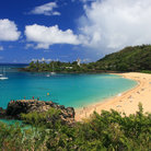 Picture - Beautiful stretch of sand at Waimea Bay.