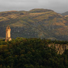 Picture - Distant view to the Wallace Monument near Stirling.