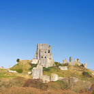 Picture - Ruins of Corfe Castle in Swanage.