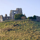 Picture - The hill top ruins of Corfe Castle in Swanage.
