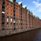 Picture - Typical Hamburg Dockside, called Speicherstadt.