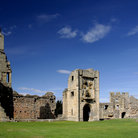 Picture - The ruins of Warkworth Castle.