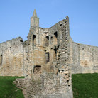 Picture - Crumbling tower at Warkworth Castle.