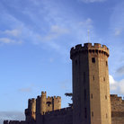 Picture - Tower of the Warwick Castle in the late day.