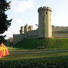 Picture - Tent in front of Warwick Castle.