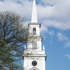 Picture - Church Steeple in Warwick, Rhode Island.