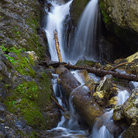 Picture - Donut Falls in the Wasatch Mountains.