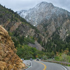 Picture - Road through the Wasatch Mountains.