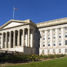 Picture - Treasury Department building in Washington.
