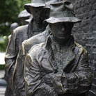 Picture - Sculpture of the Bread Line at the Franklin D. Roosevelt Memorial in Washington.