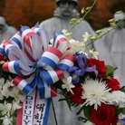 Picture - Ribbons at the Korean War Memorial in Washington.